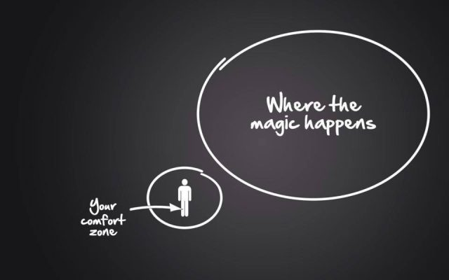 healthy habits image showing magic outside the comfort zone