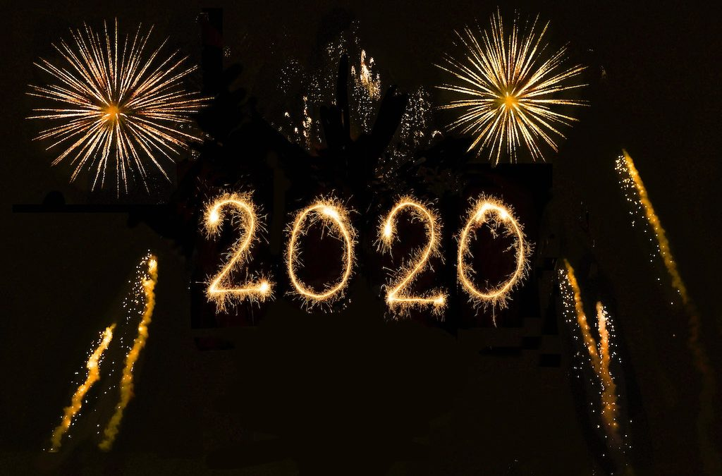 resolutions 2020 in fireworks in the sky